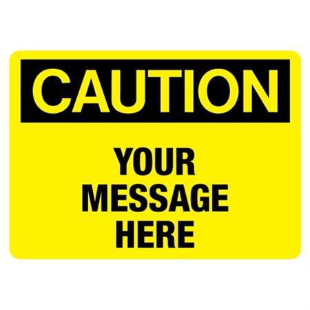 Custom Worded Industrial Decals - Caution