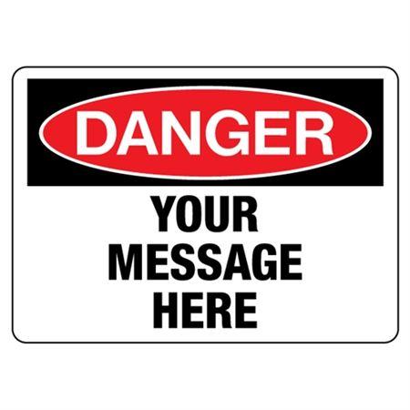 Custom Worded Industrial Decals - Danger