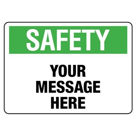 Custom Worded Industrial Decals - Safety