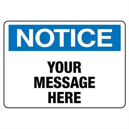 Custom Worded Industrial Decals - Notice