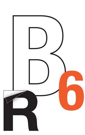 Reflective Die Cut Vinyl Letters/Numbers-14 Inch Orange PK/5