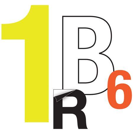 Reflective Die Cut Vinyl Letters/Numbers-2 Inch Orange PK/5
