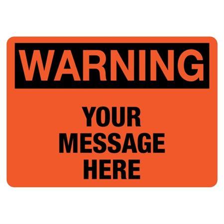 Custom Worded Industrial Decals - Warning