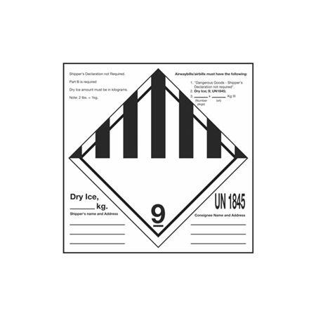 Dry Ice Label - Stock - 6 x 6