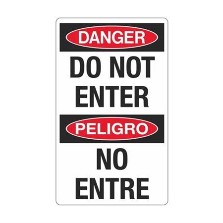 Danger Do Not Enter / Peligro No Entre Sign