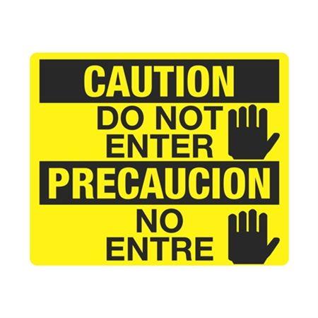 Caution Do Not Enter / Precaucion No Entre (Hand Symbol)