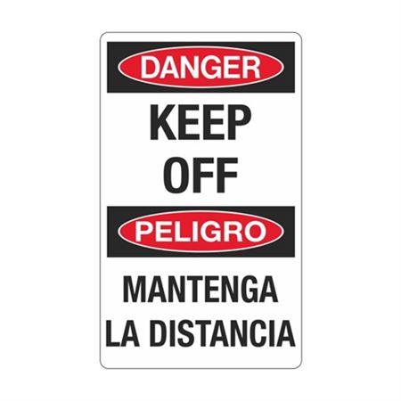 Danger Keep Off Peligro Mantenga La Distancia