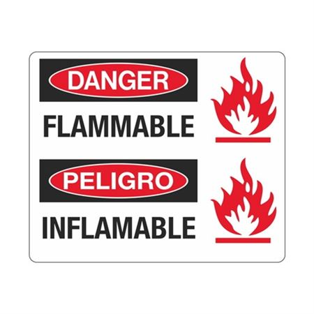 Danger Flammable / Peligro Inflammable Sign