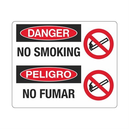 Danger No Smoking / Peligro No Fume Sign