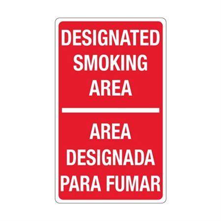 Designated Smoking Area / Bilingual Sign