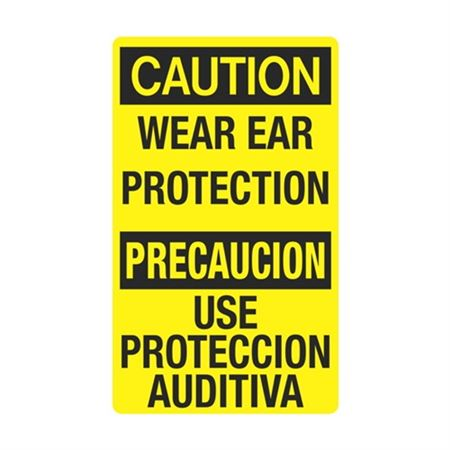 Caution Wear Ear Protection / Bilingual Sign 12 x 20