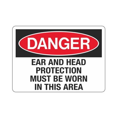 Danger Ear And Head Protection Must Be Worn In This Area