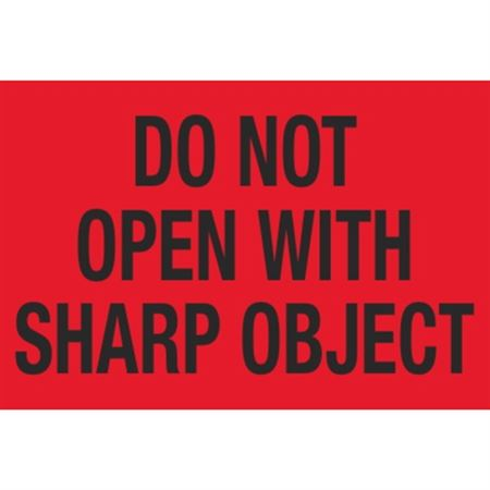 Pallet Labels - Do Not Open With Sharp Object - 3 x 5
