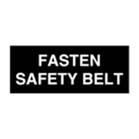 Seat Belt Decals - Fasten Safety Belt 5 x 2
