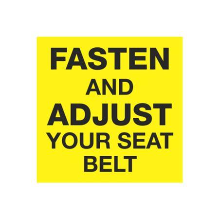 Fasten and Adjust Your Seat Belt 2 x 2