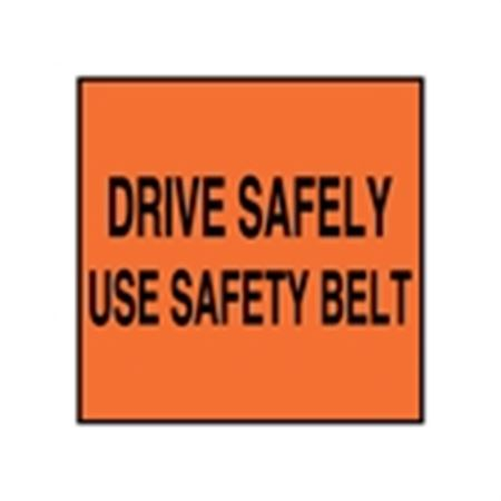 Seat Belt Decals - Drive Safely Use Safety Belt 2 x 2