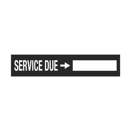 Dashboard Safety Decals - Service Due 1 x 5