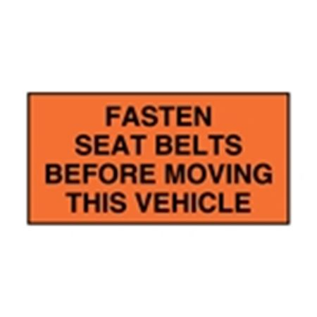 Seat Belt Decals - Fasten Seat Belts Before Moving This Vehicle 4 x 2