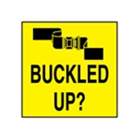 Seat Belt Decals - Buckled Up? 2 x 2