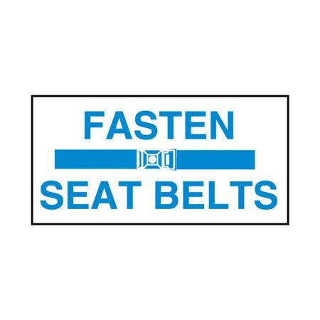 Seat Belt Decals - Fasten Seat Belts 2 x 4