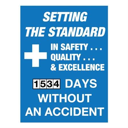 "Setting the Standard Scoreboard - Single Dial 23"" x 30"""