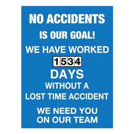 No Accidents Is Our Goal - Single Dial 23x30