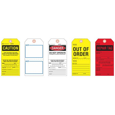 Do Not Operate/Out of Order Tags