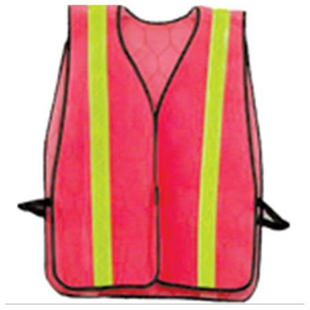 Economy Safety Vest - Orange with Yellow Stripe