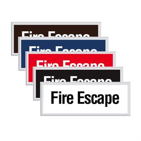 Engraved Door Sign - Fire Escape