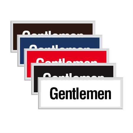 Engraved Door Sign - Gentlemen