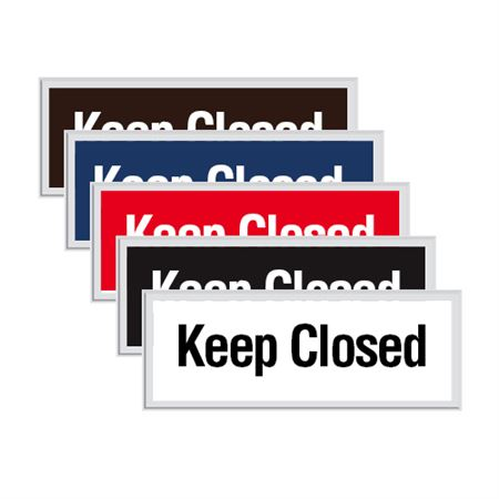 Engraved Door Sign - Keep Closed