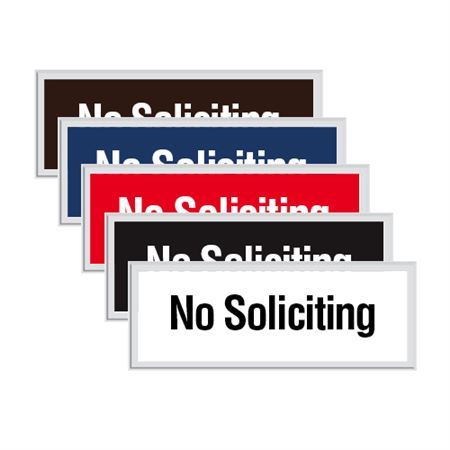 Engraved Door Sign - No Soliciting
