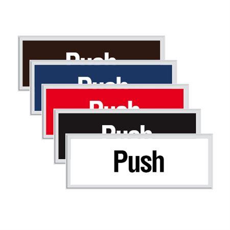 Engraved Door Sign - Push