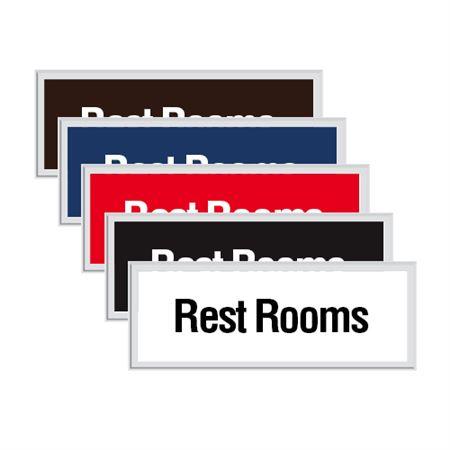Engraved Door Sign - Rest Rooms