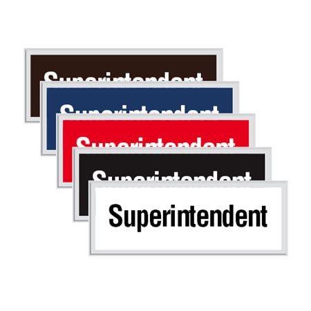 Engraved Door Sign - Superintendent