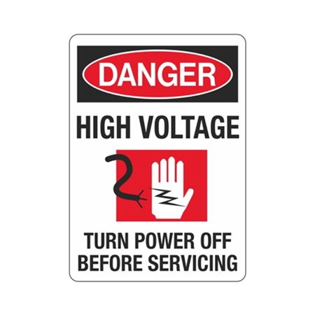 Danger High Voltage Graphic Turn Power Off Before Servicing