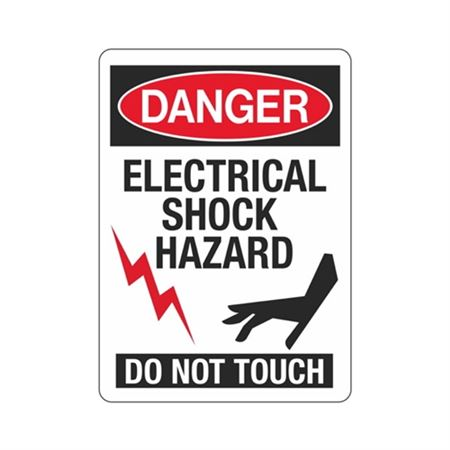 Danger Electrical Shock  … phic) Do Not Touch Sign