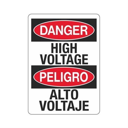 Danger High Voltage / Peligro Alto Voltaje Sign