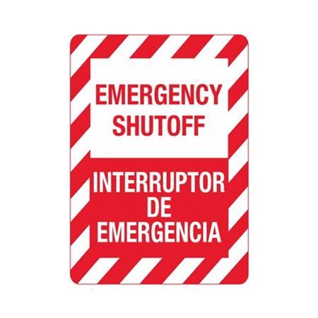 Emergency Shutoff / Interruptor De Emergencia Sign