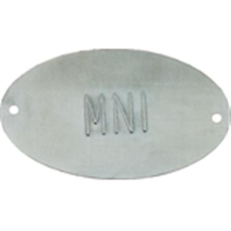 Embossed Metal Tags - Lettered - Aluminum