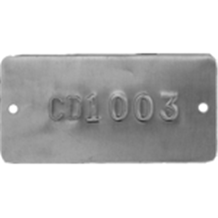 Embossed Metal Tags - Letter and Numbered - Aluminum