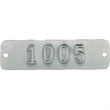 Embossed Metal Tags - Numbered - Aluminum