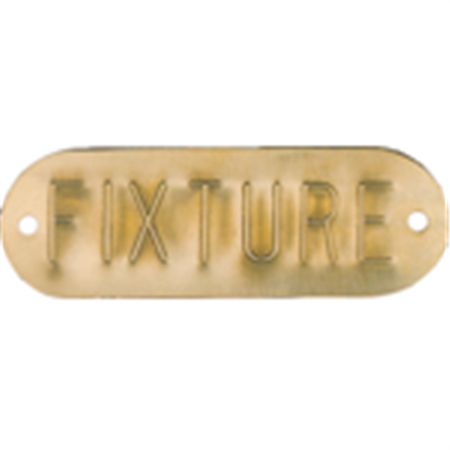 Embossed Metal Tags - Lettered - Brass