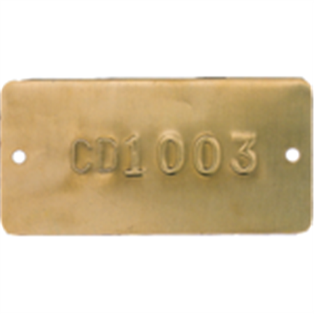 Embossed Metal Tags - Letter and Numbered - Brass