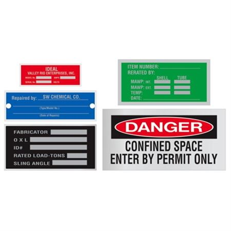Etched Stainless Steel Nameplates - 2 x 4