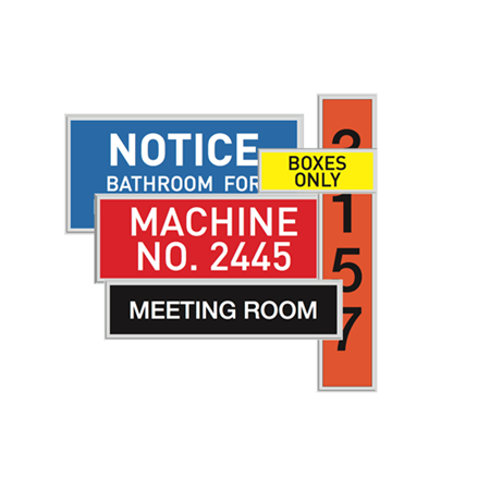 Custom Economy Engraved Signs - Economy Engraved Sign-2 Lines up to 24 Characters Per Line 4 x 14