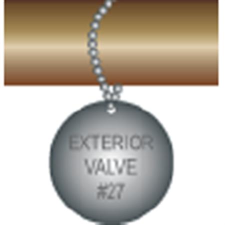 Engraved Valve Tags - Custom - Aluminum Circle 1.5 x 1.5