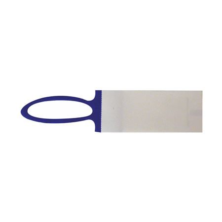 Elastinote Tags - White w/ Blue 1 inch x 2 1/4 inches