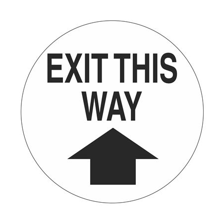 "Anti-Slip Floor Decals - Exit This Way - 18"" Diameter"