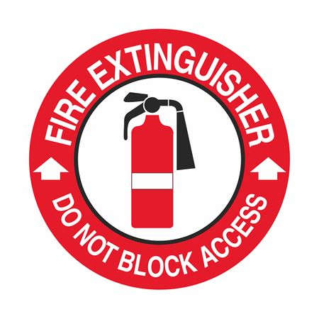 Fire Extinguisher Do Not Block Access - 18 inch diameter
